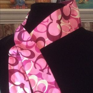 Coach pink head scarf